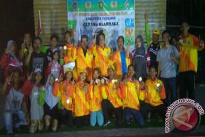 Kotabaru Juara Umum Panjat Dinding Porprov Tabalong