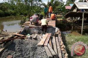 Pembangunan Jembatan Kecil TMMD Sudah 90 Persen