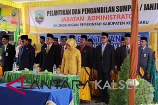 Bupati Kotabaru Lantik Sembilan Pejabat