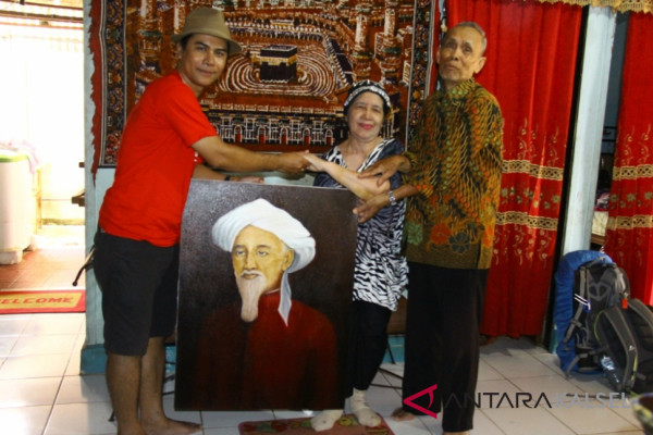 Lukisan Syekh Muhammad Arsyad Al-Banjari Pulang Kampung