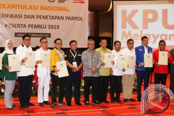 Nomor urut 14 parpol peserta Pemilu 2019