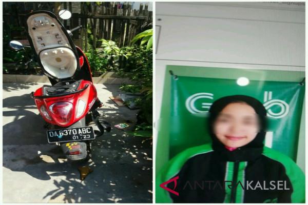 Wanita Driver Ojek Online Curi Motor