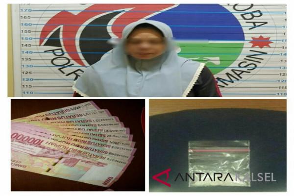 Polresta Banjarmasin Tangkap Wanita Bertransaksi Narkoba