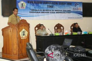 Diskominfo Batola gelar workshop jurnalistik