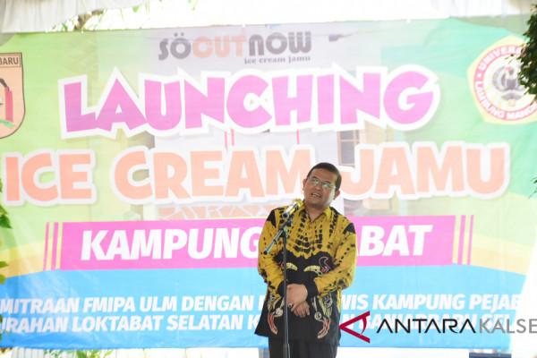 "Rektor ULM hadiri peluncuran ""Ice Cream Jamu"" di Kampung Pejabat"