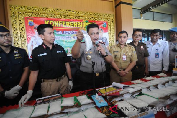 South Kalimantan Police record the largest sabu-sabu catch
