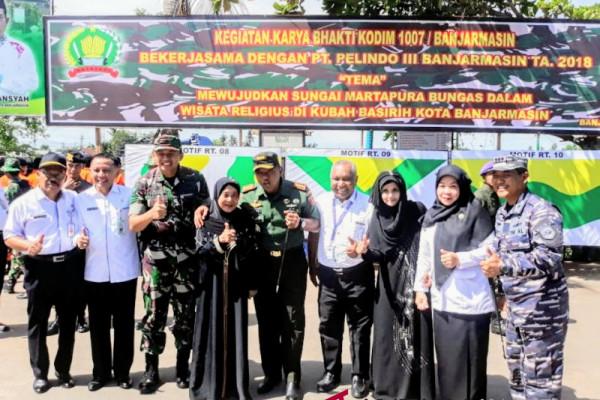 Karya Bhakti TNI AD Wujudkan Wisata Religius Kubah Basirih