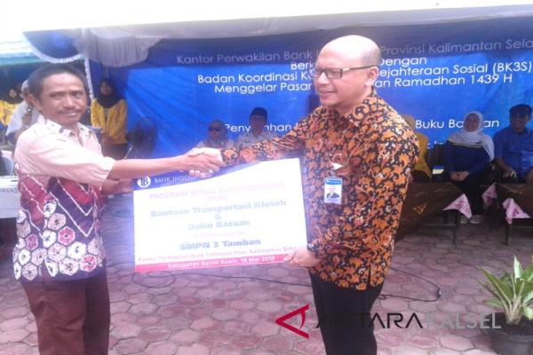 Bank Indonesia Bantu SMPN 3 Tamban