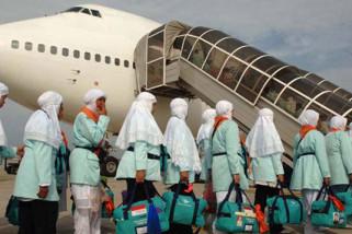 Pesawat Belgia  tiba di Bandara Syamsudin Noor