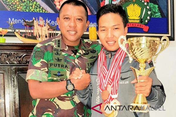 Berprestasi dunia, Danrem janji bantu Fauzan masuk TNI AD