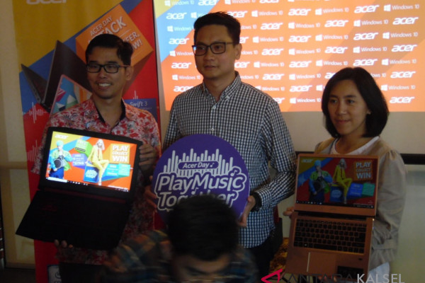 """Laptop Acer """"tipis"""" gebrak pasar Banjarmasin"""