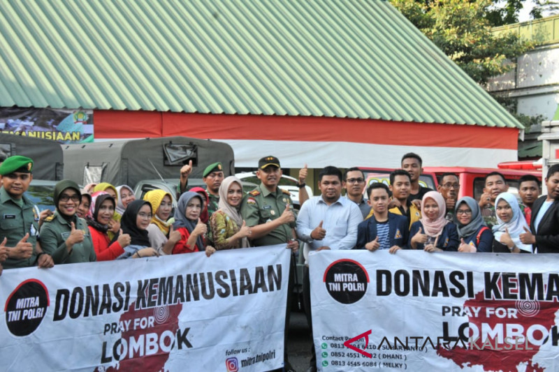 Korem sends 2,056 koli assistance for Lombok earthquake victims