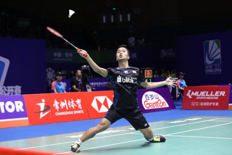 Ginting ke Semi final, kembali taklukkan pemain unggulan China