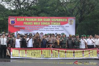 Persiapan Pengamanan Pemilu 2019 di HST dimatangkan