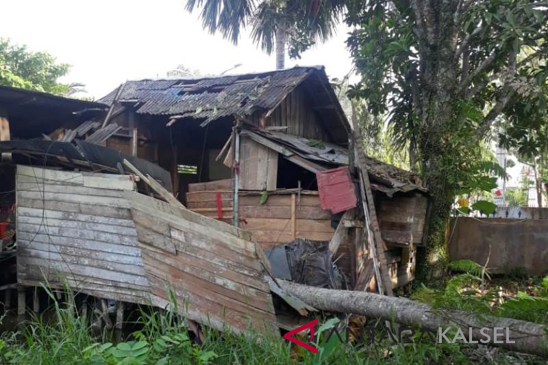 A house collapsed under a coconut tree, one child dies