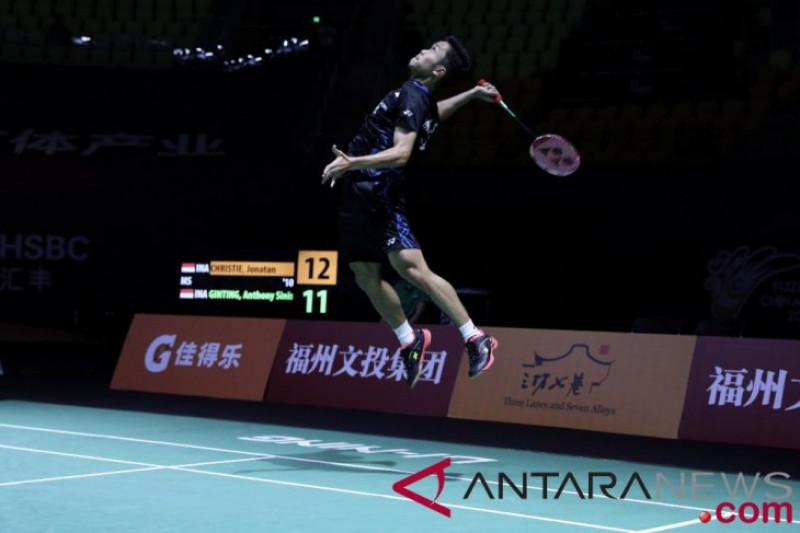 Anthony Ginting takluk dari Shi Yuqi di Guangzhou