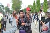 Unjuk Rasa Mahasiswa di Samarinda Ricuh