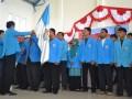 Pelantikan pengurus DPD KNPI Kabupaten Nunukan periode 2012-2015 oleh Wakil Ketua DPD KNPI Provinsi Kaltim, Arif Rahman Hakim, Jumat (15/2). (M Rusman/ANTARA)