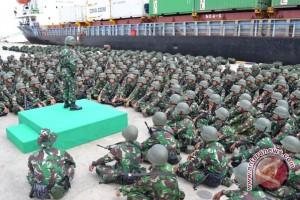 650 Prajurit Pamtas Indonesia-Malaysia Tiba di Nunukan