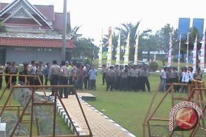 Polisi Sterilkan Gedung DPRD Kutim Untuk Pelantikan