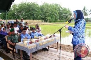 Rita Resmikan Pencanangan Pembangunan Irigasi Tersier