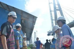 Pembangunan Jembatan Mahkota II Capai 79 Persen