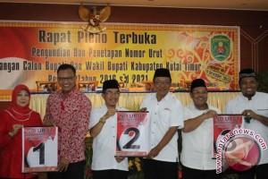 KPU Kutai Timur Tetapkan Nomor Urut Cabup-Cawabup