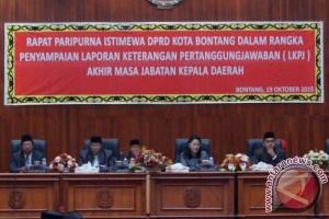 Wali Kota Bontang Sampaikan LKPj 2011-2016