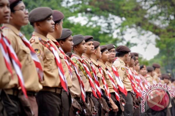 Perkemahan Nasional Pramuka Putri di Pantai Manggar