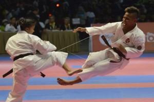 PON 2016 - Taekwondoin Kaltim Patah Tangan saat Final