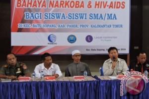 Ratusan Pelajar Paser Ikuti Seminar Narkoba dan HIV/AIDS