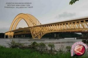 Jembatan Kembar Samarinda Ditargetkan Rampung Awal 2018