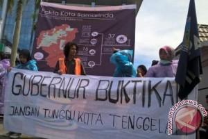 Forum Satu Bumi Demo Terkait Banjir Samarinda