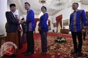 Agus dan Ibas Yudhoyono Silaturahmi dengan Presiden Jokowi