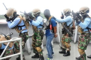 Koarmatim Gelar Latihan Antiteroris di Teluk Balikpapan