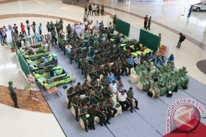 Donor Darah Korem 091/ASN Kumpulkan 103 Kantong