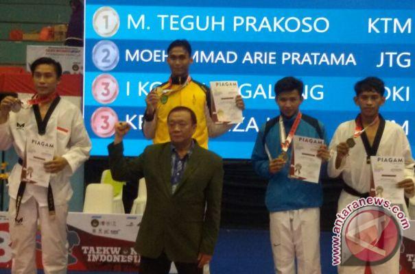 Taekwondoin Kaltim Teguh Prakoso Raih Emas Kyorugi