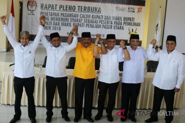 Tiga pasangan cabup-cawabup resmi menjadi peserta Pilkada Penajam