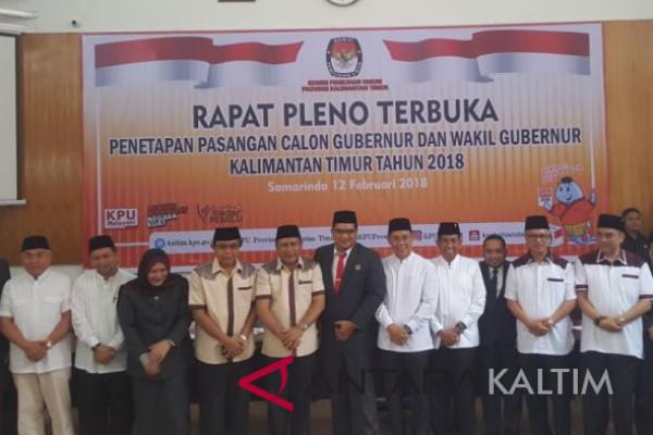 KPU Kaltim tetapkan empat pasangan cagub-cawagub