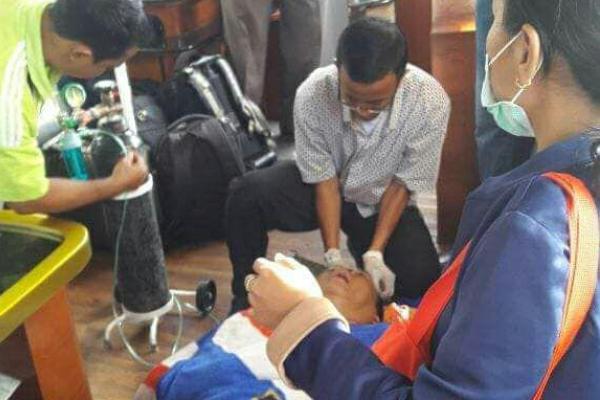 Nusyirwan dapat pantauan intensif tim medis RSUD AWS