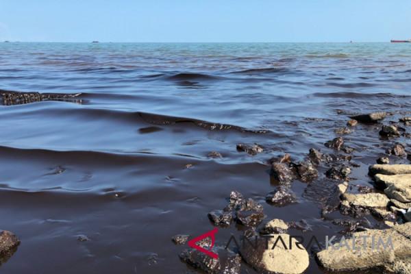 Tumpahan minyak cemari 73,5 hektare tambak di Penajam