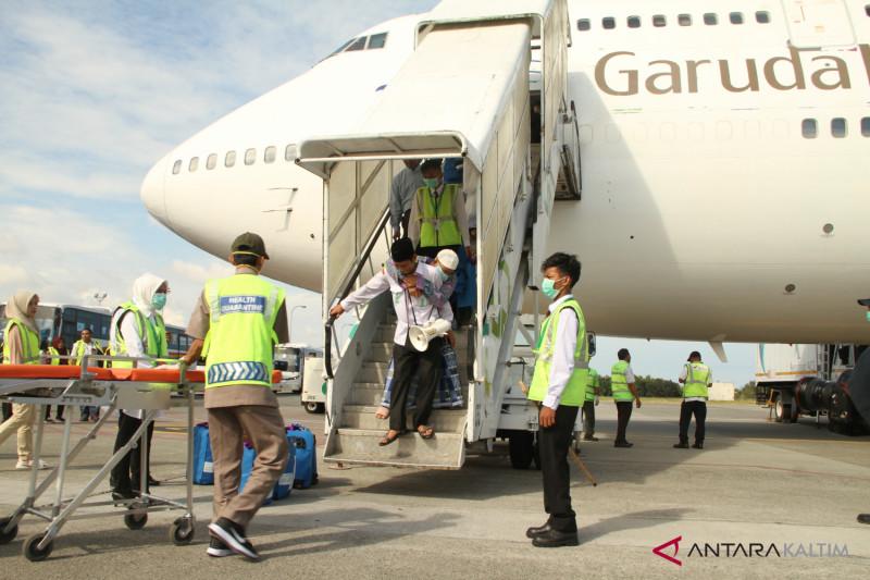 130 orang haji Penajam tiba dalam kondisi sehat