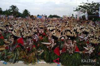 Festival Hudoq Mahulu berhasil pecahkan Rekor Muri