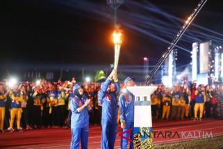 Tiga Atlet Kutim  Bawa Obor Api Abadi Porprov VI