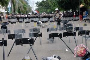 Kantor Wali Kota Palembang masih dijaga aparat polisi