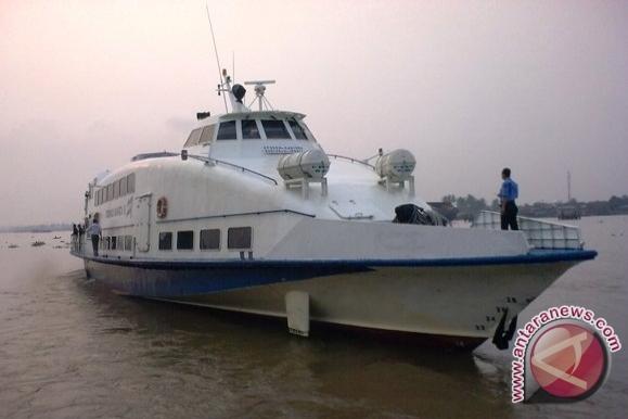 Kapal cepat (jetfoil) rute Palembang-Bangka beroperasi normal. (Foto