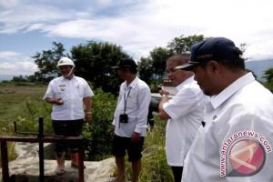 Dua Jaringan Irigasi Palipi Ditinjau Bupati Samosir