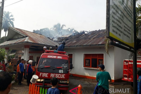 Kantor Camat terbakar