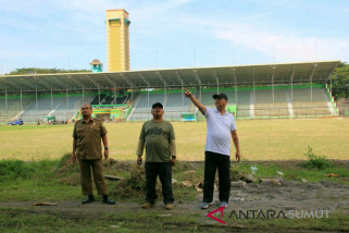 Walikota pantau renovasi Stadion Teladan