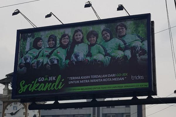 GO-JEK pasang Billboard apresiasi mitra wanita Medan